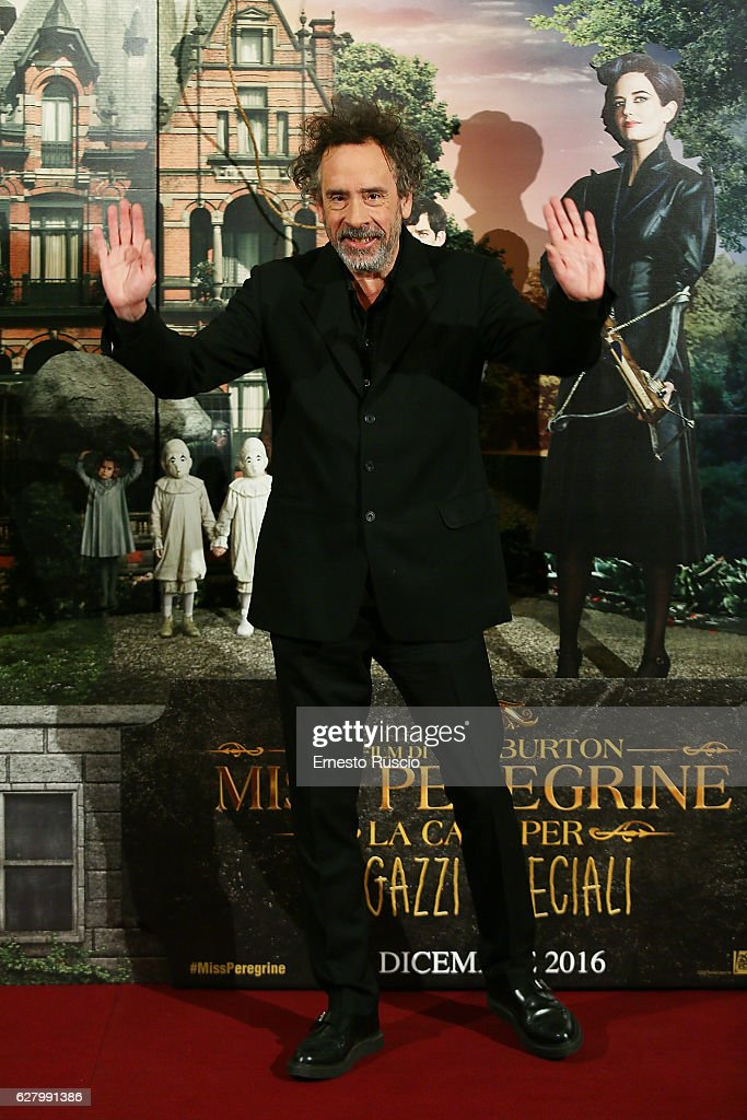 Tim Burton attends 'Miss Peregrine's Home for Peculiar Children' photocall at Hotel St Regis on December 6, 2016 in Rome, Italy.