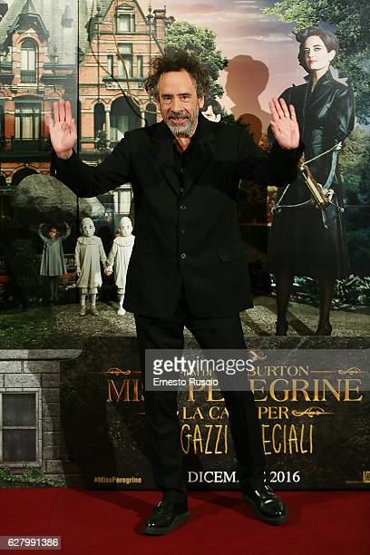 Tim Burton attends 'Miss Peregrine's Home for Peculiar Children' photocall at Hotel St Regis on December 6 2016 in Rome Italy