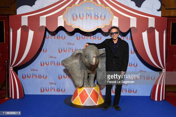 "Tim Burton attends the ""Dumbo"" Paris Gala Screening at Cinema Le Grand Rex on March 18 2019 in Paris France"