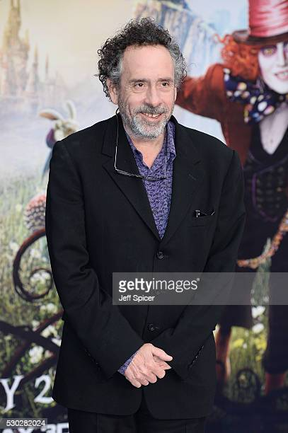 Tim Burton attends the European premiere of Alice Through The Looking Glass at Odeon Leicester Square on May 10 2016 in London England