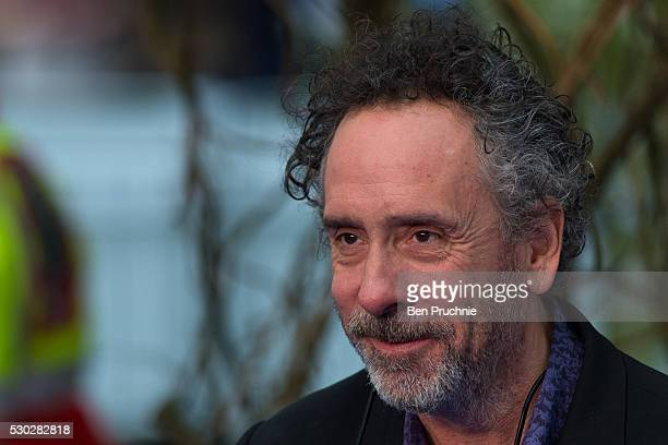 Tim Burton attends the European Premiere of 'Alice Through The Looking Glass' at Odeon Leicester Square on May 10 2016 in London England