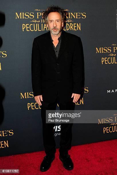 Tim Burton attends the Twentieth Century Fox Saks Fifth Avenue and Visa Signature Present 'Miss Peregrine's Home for Peculiar Children' at Saks Fifth...