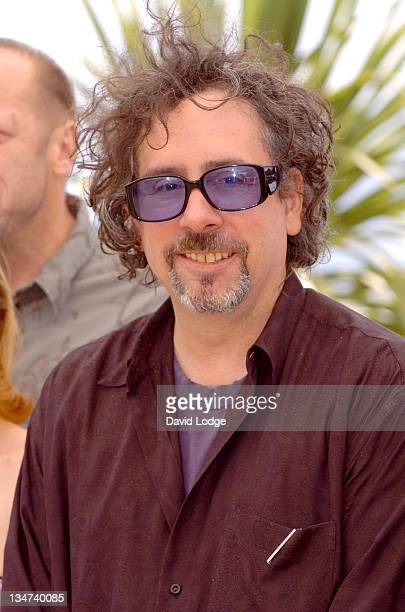 """Tim Burton during 2006 Cannes Film Festival - """"Jury Cinefondation'' Photocall at Palais des Festival Terrace in Cannes, France."""