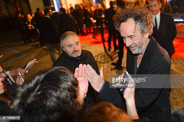 Tim Burton is seen on December 5 2016 in Rome Italy