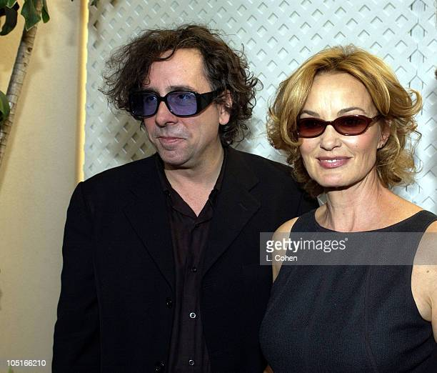 Tim Burton Jessica Lange during 10th Annual Premiere Women In Hollywood Luncheon at Four Seasons Hotel in Los Angeles California United States