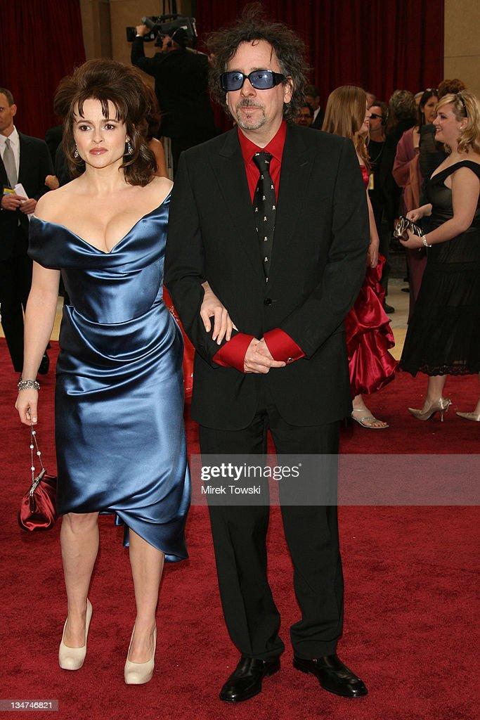 "Tim Burton, nominee Best Animated Feature for ""Tim Burton's Corpse Bride,' and Helena Bonham Carter"