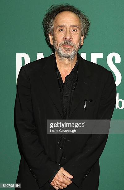 Tim Burton promotes 'Miss Peregrine's Home For Peculiar Children Or Tales Of The Peculiar' at Barnes Noble Union Square on September 27 2016 in New...