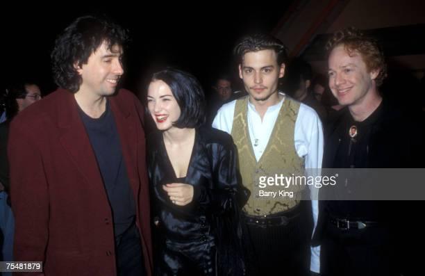 Tim Burton Winona Ryder Johnny Depp Danny Elfman in Los Angeles California