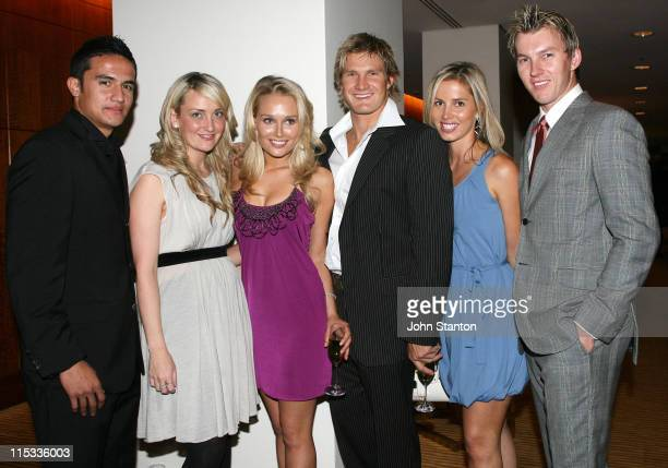 Tim Cahill Bec Lee Furlong Shane Watson Liz Lee and Brett Lee