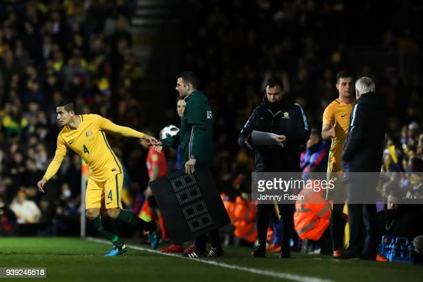 Tim Cahill of Australia during the International friendly match between Colombia and Australia at Craven Cottage on March 27 2018 in London England