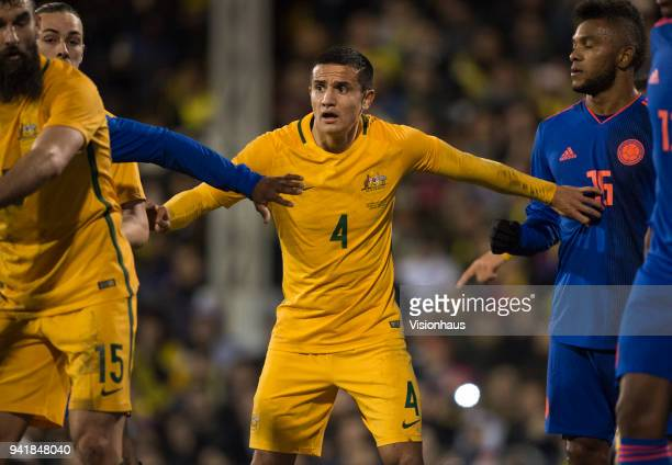 Tim Cahill of Australia during the International Friendly match between Australia and Colombia at Craven Cottage on March 27 2018 in London England