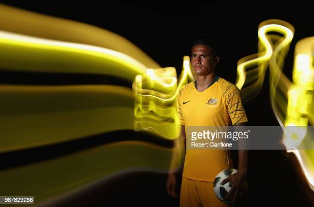 Tim Cahill of Australia pose during the Australian Socceroos Portrait Session at the Gloria Serenity Resort on June 5 2018 in Antalya Turkey