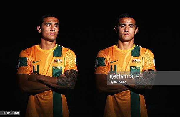 Tim Cahill of Australia poses during a Socceroos Portrait Session on March 21 2013 in Sydney Australia