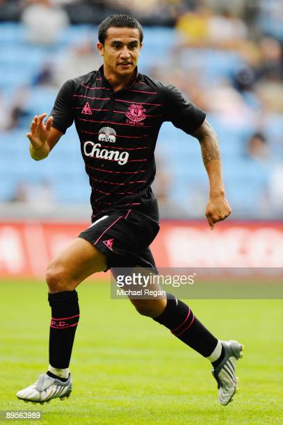 Tim Cahill of Everton during the pre season friendly match between Coventry City and Everton at the Ricoh Arena on August 2 2009 in Coventry England