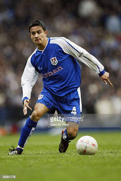 Tim Cahill of Millwall makes a break forward during the FA Cup Semi-Final match between Sunderland and Millwall held on April 4, 2004 at Old...