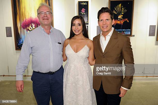 Tim Cantor and Amy Cantor attend the Tim Cantor art show at AFA Gallery on June 16 2016 in New York City