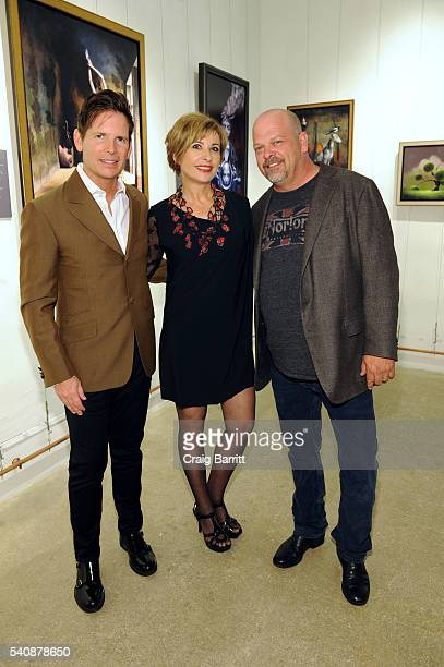 Tim Cantor Heidi Leigh and Rick Harrison attend the Tim Cantor art show at AFA Gallery on June 16 2016 in New York City