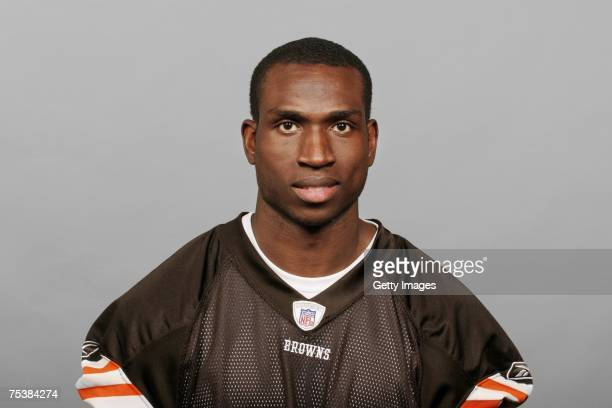 Tim Carter of the Cleveland Browns poses for his 2007 NFL headshot at photo day in Cleveland Ohio