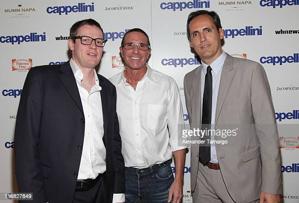Tim Cassidy Cliff Berman and Aldo Faetti attend the Cappellini Miami Flagship Showroom Grand Opening on October 22 2009 in Miami Florida
