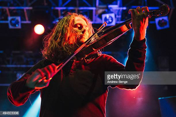 Tim Charles of Ne Obliviscaris performs on stage at KOKO on October 23 2015 in London England