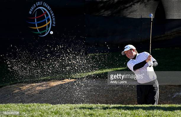 Tim Clark of South Africa hits his second shot on the par 3 12th hole during the third round of the World Golf Championships Accenture Match Play...