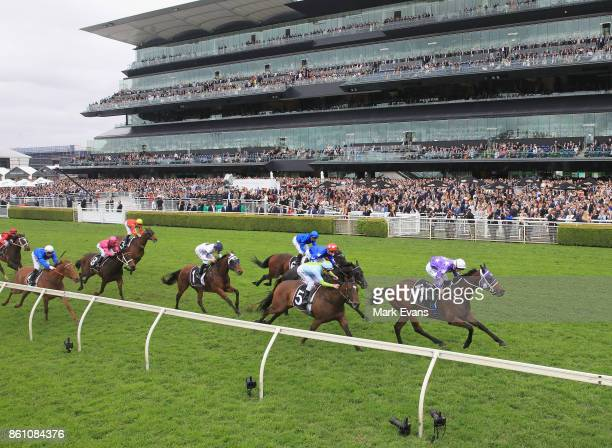 Tim Clark on Invincibella wins race 5 during The Everest Day at Royal Randwick Racecourse on October 14 2017 in Sydney Australia