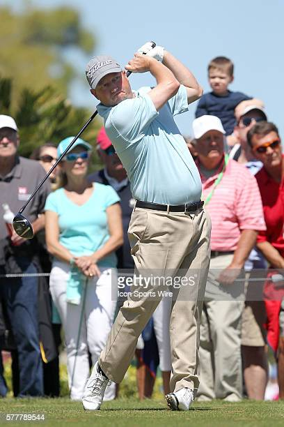 Tim Clark tees off during the second round of the Valspar Championship at Innisbrook Resort - Copperhead in Palm Harbor, Florida.