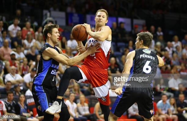 Tim Coenraad of the Hawks drives to the basket during the round 14 NBL match between the Illawarra Hawks and the New Zealand Breakers at Wollongong...