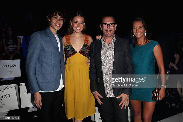 Tim Commandeur April Rose Pengilly Kirk Pengilly and Layne Beachley arrive for the Nana Judy show on day five of MercedesBenz Fashion Week Australia...