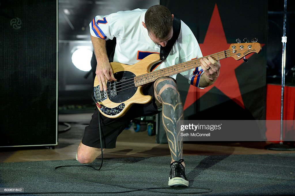 Tim Commerford of Prophets of Rage perform at Red Rocks Amphitheatre in Morrison, Colorado on September 7, 2016.