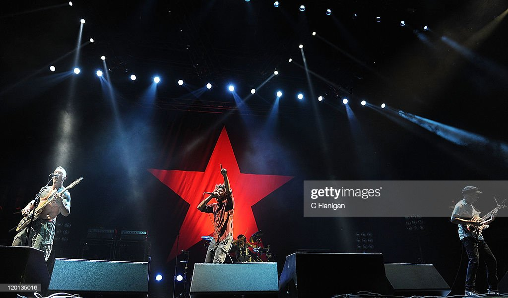 "Rage Against The Machine And Goldenvoice Present ""L.A. Rising"" : News Photo"