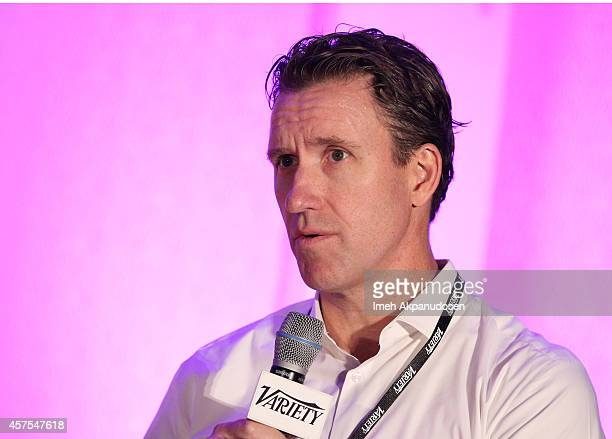 Tim Connolly head of distribution Hulu speaks onstage at the Variety Entertainment and Technology Summit Fall 2014 at Ritz Carlton Hotel on October...
