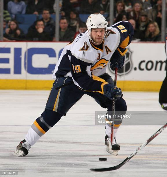 Tim Connolly of the Buffalo Sabres skates against the Montreal Canadiens on February 29, 2008 at HSBC Arena in Buffalo, New York.