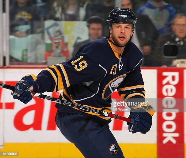 Tim Connolly of the Buffalo Sabres skates against the New York Rangers on January 9 2009 at HSBC Arena in Buffalo New York