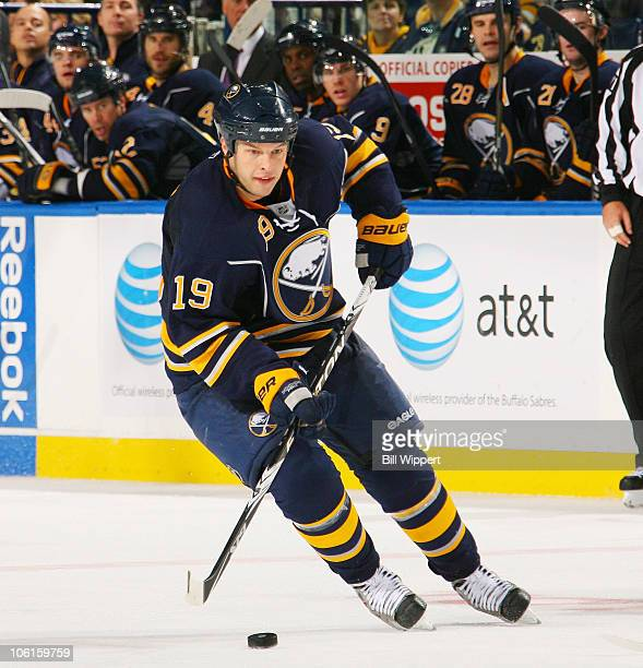 Tim Connolly of the Buffalo Sabres skates against the Ottawa Senators at HSBC Arena on October 22 2010 in Buffalo New York