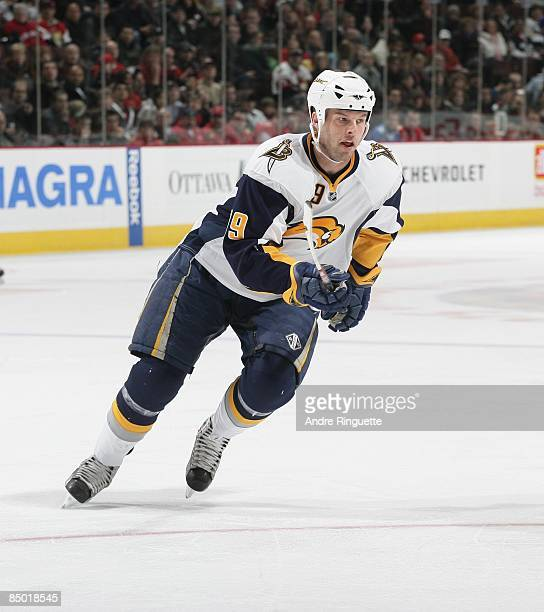 Tim Connolly of the Buffalo Sabres skates against the Ottawa Senators at Scotiabank Place on February 7 2009 in Ottawa Ontario Canada