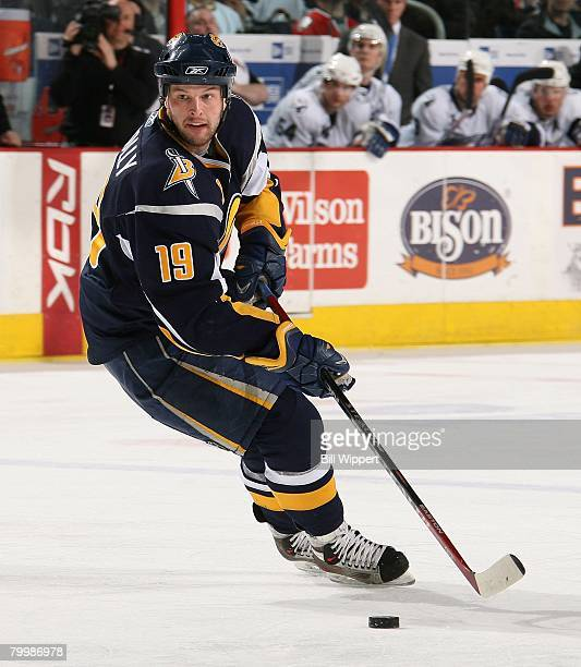 Tim Connolly of the Buffalo Sabres skates against the Tampa Bay Lightning on February 20, 2008 at HSBC Arena in Buffalo, New York.