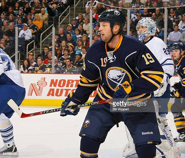 Tim Connolly of the Buffalo Sabres skates against the Toronto Maple Leafs on February 4 2009 at HSBC Arena in Buffalo New York