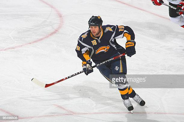 Tim Connolly of the Buffalo Sabres skates during the game against Ottawa Senators on December 26 2009 at HSBC Arena in Buffalo New York