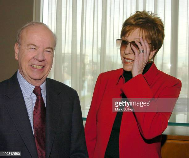Tim Conway and Carol Burnett during 2004 Cable Press Tour - Day 4 at Renaissance Hollywood Hotel in Hollywood, California, United States.