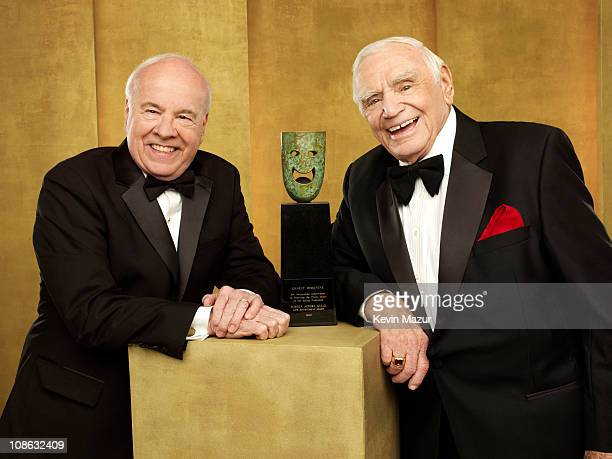 Tim Conway and Ernest Borgnine pose for a portrait at the TNT/TBS broadcast of the 17th Annual Screen Actors Guild Awards held at The Shrine...