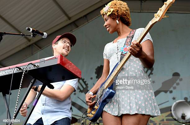 Tim Cook and Jo Jo Jackson of ELEL perform onstage during Pilgrimage Music Cultural Festival on September 26 2015 in Franklin Tennessee