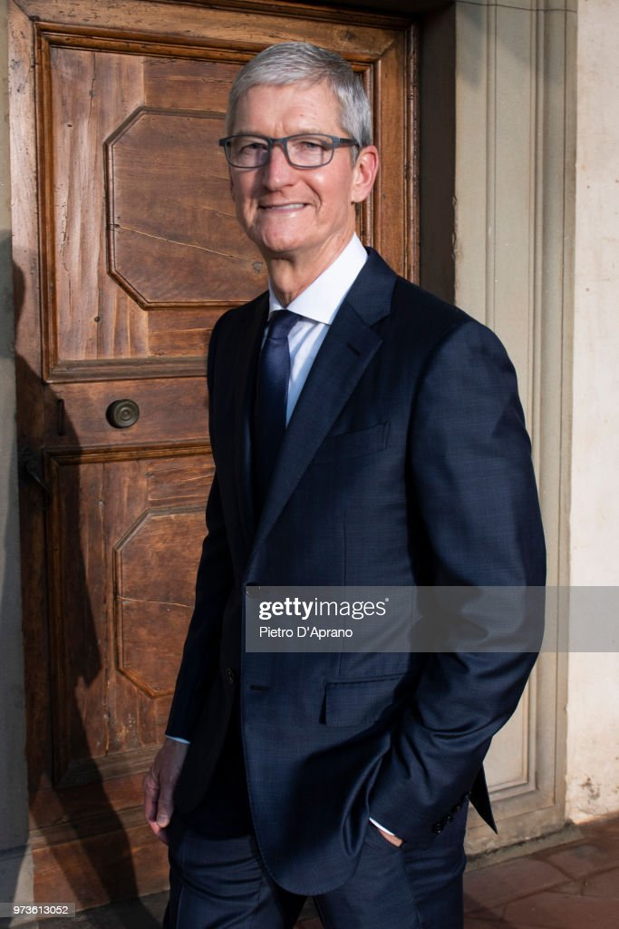 Tim Cook attends Roberto Cavalli show during the 94th Pitti Immagine Uomo on June 13, 2018 in Florence, Italy.