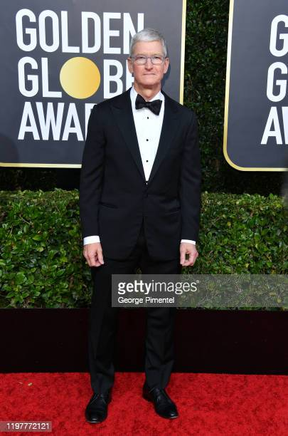 Tim Cook attends the 77th Annual Golden Globe Awards at The Beverly Hilton Hotel on January 05, 2020 in Beverly Hills, California.
