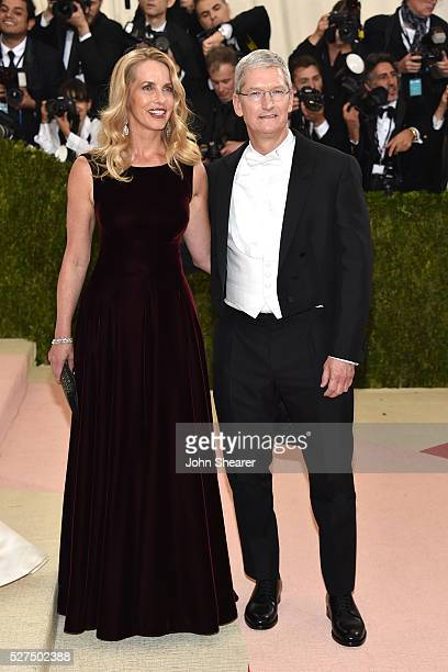 Tim Cook attends the 'Manus x Machina Fashion In An Age Of Technology' Costume Institute Gala at Metropolitan Museum of Art on May 2 2016 in New York...