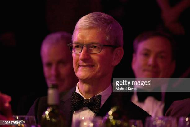 Tim Cook attends the PreGRAMMY Gala and GRAMMY Salute to Industry Icons Honoring Clarence Avant at The Beverly Hilton Hotel on February 9 2019 in...