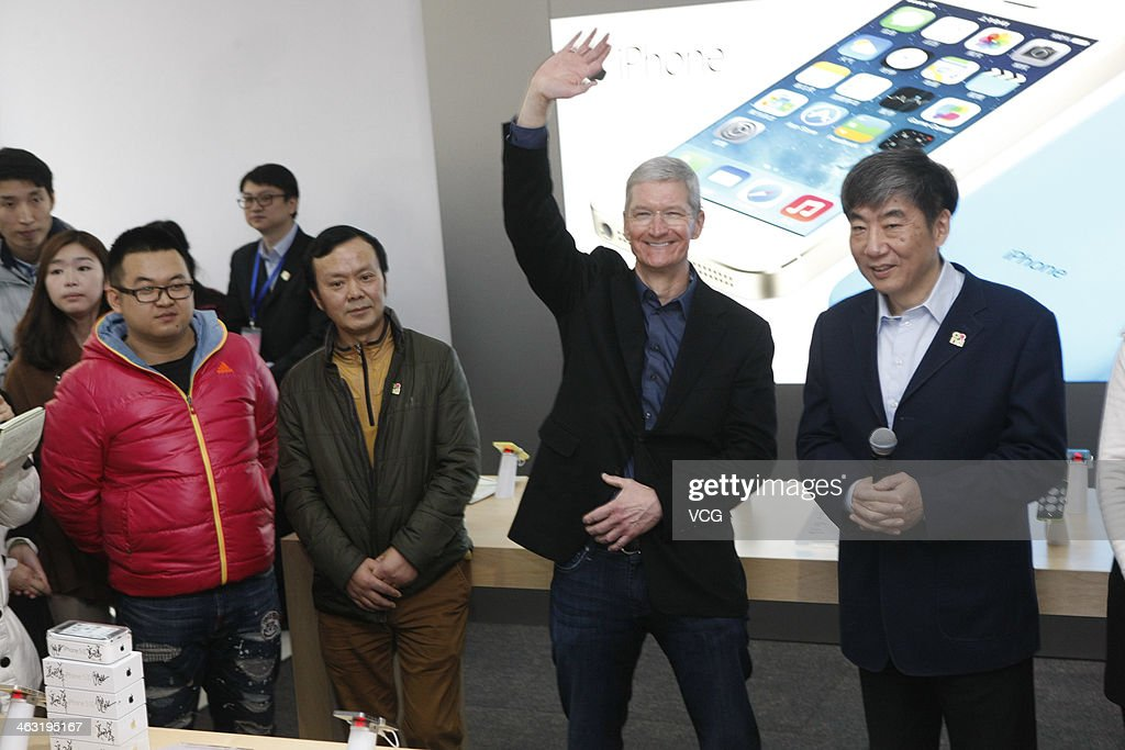 CEO Tim Cook Visits Beijing : News Photo