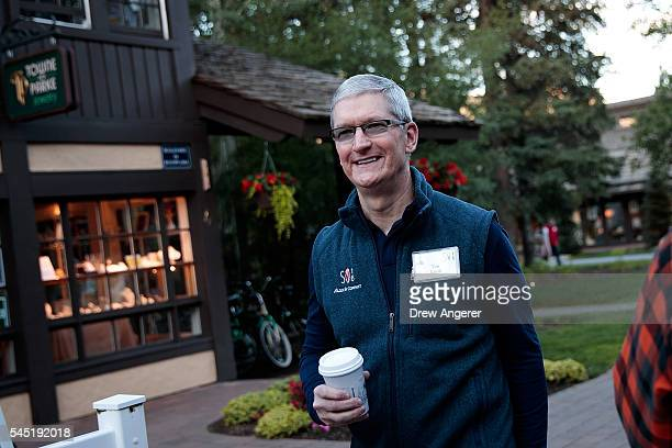 Tim Cook, chief executive officer of Apple Inc., attends the annual Allen & Company Sun Valley Conference, July 6, 2016 in Sun Valley, Idaho. Every...