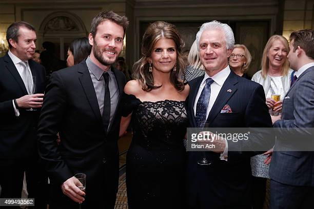 Tim Coolican Karen T Fondu and Henry Fondu attend the L'Oreal Paris Women of Worth 2015 Celebration Inside at The Pierre Hotel on December 1 2015 in...