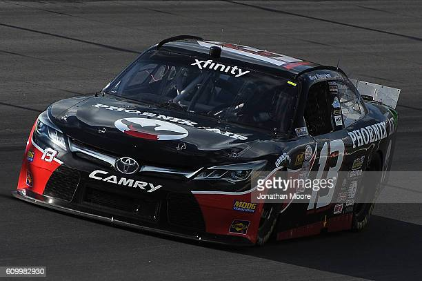 Tim Cowen driver of the Phoenix Air Dodge on track during practice for the NASCAR XFINITY Series VysitMyrtleBeachcom 300 at Kentucky Speedway on...